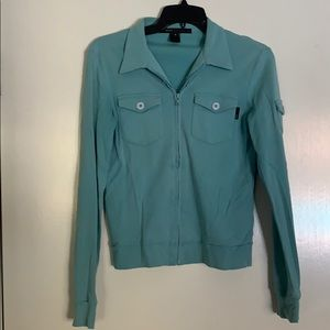 Marc Jacobs Teal Sweatshirt with buttoned pockets